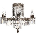 Krebs Oscar 6 Nickel Luxury Crystal Bathroom Chandelier